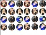 24 x LADY GAGA 1.6'' rice paper cake bun top  toppers